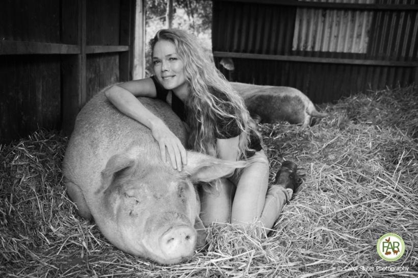 heather at farm animal rescue santuary