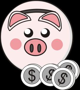 dollars piggy bank cartoon money pink