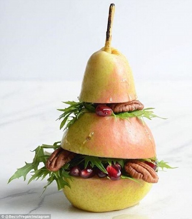 pear sweet vegan burger best of vegan competition daily mail walnuts rocket