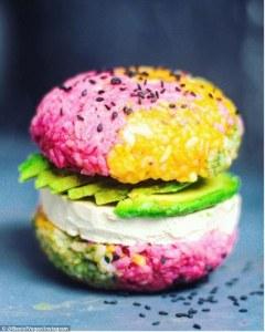 vegan burger rice bun best of vegan competition daily mail