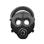atom atomic bomb mask radiation pollution