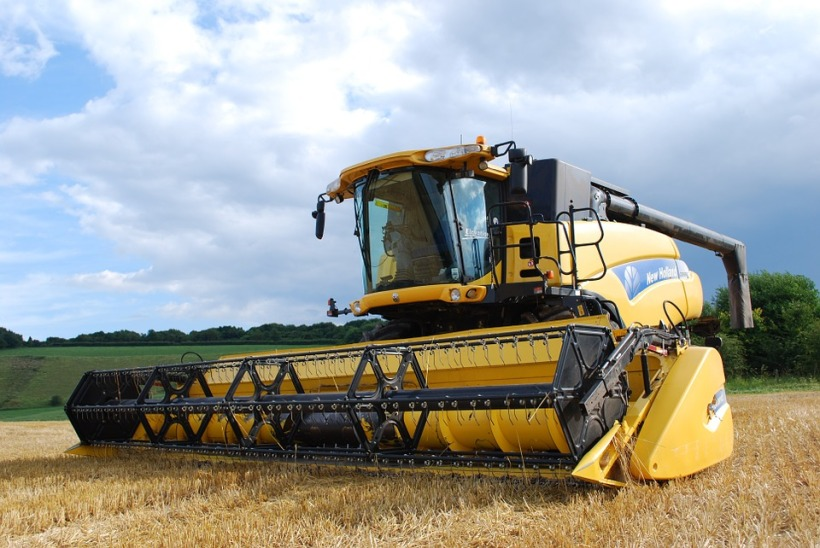 combine harvester UK unnatural nature wildlife habitat extinction endangered