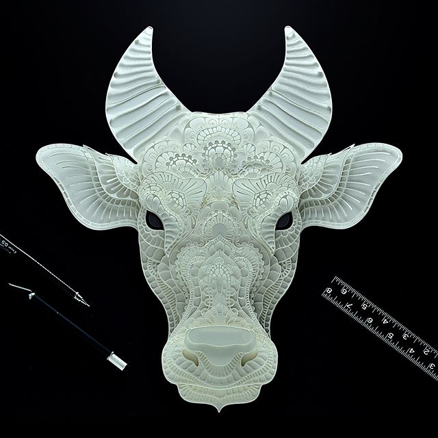 Here's another paper cut that I made for @wwfphilippines and @aoklife collaboration. It's a 16x16 inches paper cut of Tamaraw or Mindoro dwarf buffalo (Bubalus mindorensis) I had a pleasure of meeting a couple of representative from WWF. They were very passionate about saving these endangered species, and at the same time help the communities around the habitat of these species. They were both very young and my wife and I left so inspired after the meeting. I wanted to help more than just making these artworks at the safe confines of my home. You can purchase this at  https://www.aoklife.com/auctions/26/Patrick-Cabral/Tamaraw 50% of the proceeds goes to @wwfphilippines Here's a brief info about tamaraw  The world's Tamaraw (Bubalus mindorensis) population dropped by 97% within the last century. With only a few hundred remaining, swift action is needed to save these wild dwarf buffalo from extinction. In 2012, WWF-Philippines partnered with the Far Eastern University and the Department of Environment and Natural Resources for a programme called Tams-2, which seeks to double fragmented and little studied Tamaraw populations from 300 to 600 by 2020. From an initial count of 153 in 2001, the latest visual count of this endemic species was 345 in 2013. The International Union for the Conservation of Nature (IUCN) has classified this Philippine dwarf buffalo as critically endangered – the highest risk rating for any plant or animal species. The Tamaraw is endemic to the Philippines, foraging up and down Mts. Iglit, Baco, Aruyan, Halcon and Calavite in Mindoro. The Tamaraw can be differentiated from the Carabao (Bubalus bubalis carabanensis) through its distinctive V-shaped horns, a shorter tail, and a shaggy coat of chocolate to ebony fur. Adults stand four feet tall and weigh an average of 300 kilograms. Find out more at http://www.wwf.org.ph/what-we-do/tamaraw-conservation