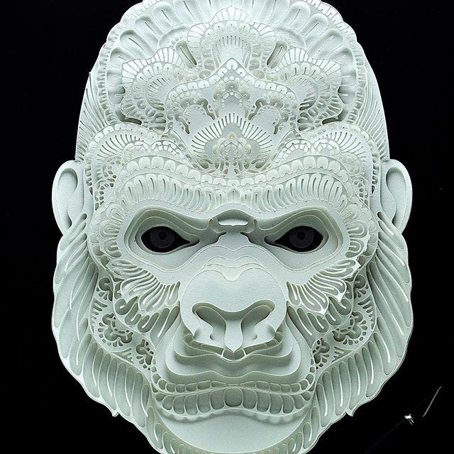 It's almost weekend in my side of the world, but before I get some rest, here's another paper cut for my @wwfphilippines and @aoklife collab. Here's a fun fact I didn't know about gorillas. Around the nose, there are a few wrinkles unique to each gorilla, a fact used by scientists to quickly identify them in the wild. All species (and sub-species) of gorilla are listed as Critically Endangered on the IUCN Red List.[12] Threats to gorilla survival include habitat destruction and poaching for the bushmeat trade. In 2004, a population of several hundred gorillas in the Odzala National Park, Republic of Congo was essentially wiped out by the Ebola virus.[67] A 2006 study published in Science concluded more than 5,000 gorillas may have died in recent outbreaks of the Ebola virus in central Africa. The researchers indicated in conjunction with commercial hunting of these apes, the virus creates