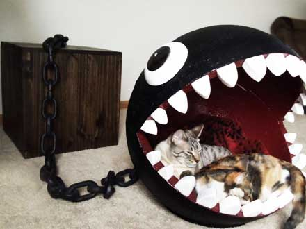 catastrophic creations cat pad ball and chain cat furniture bed