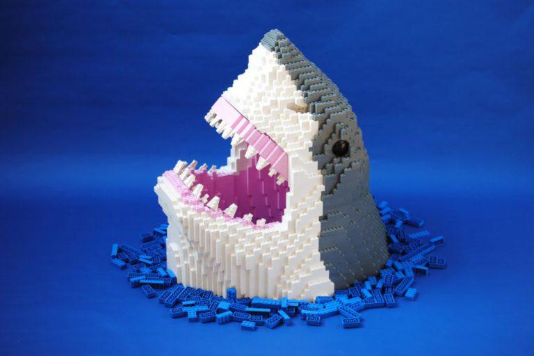 lego animal art shark Felix Jaensch wildlife